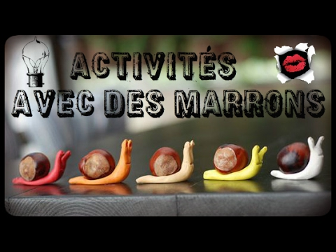 activit s pour enfants avec des marrons youtube. Black Bedroom Furniture Sets. Home Design Ideas