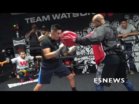 Leo Santa Cruz Extreme Work Out At Watson Boxing Club EsNews Boxing