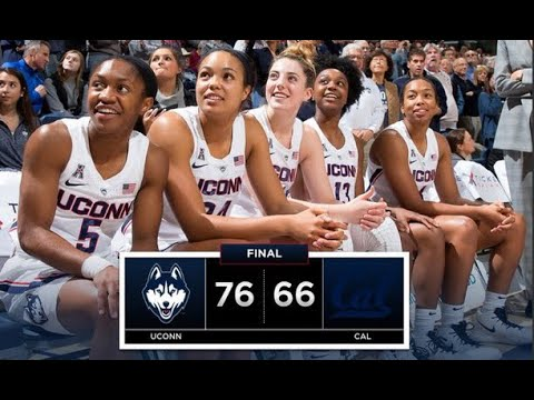 UConn Women's Basketball Highlights v. Cal 12/22/2018