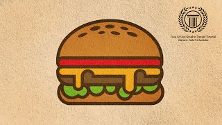 Adobe Illustrator Logo design / Illustration | Burger Shape Logo Tutorial