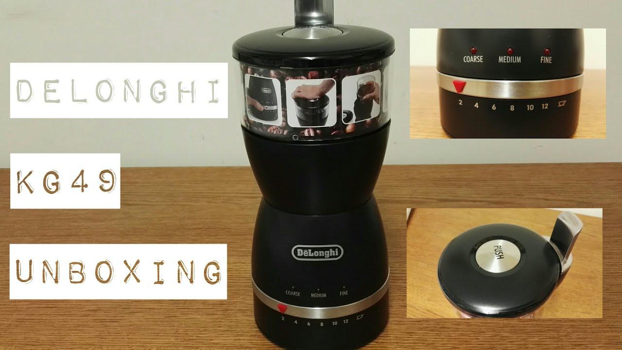 Delonghi Kg49 Coffee Grinder Unboxing