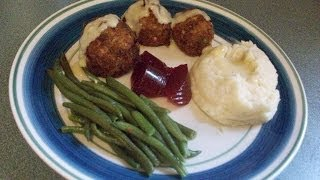 Diner Chicken Croquette With Gravy ~ Blue Plate Special  #1