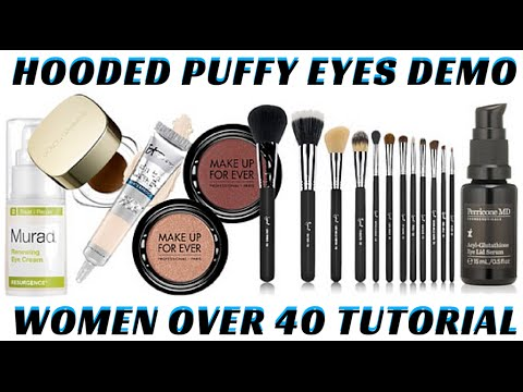 How to do Hooded Puffy Mature Eyes Step by Step Makeup Tutorial