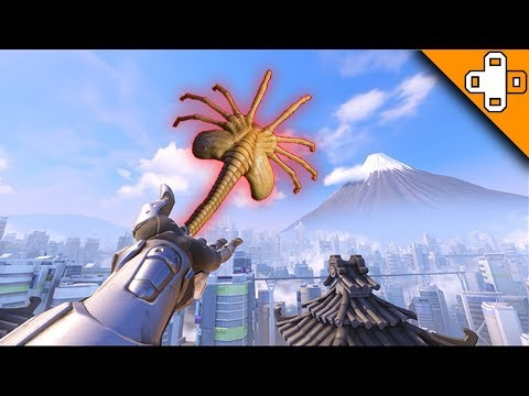 WIDOWMAKER SHOOTS OUT A FACEHUGGER? Overwatch Funny & Epic Moments 556