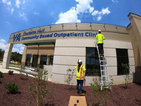 VA Outpatient Clinic - Sign Install