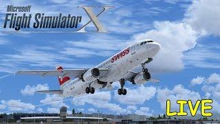 FSX | IVAO | Wien - Zürich | Airbus A320 Swiss | Liongamer1 [LIVESTREAM]