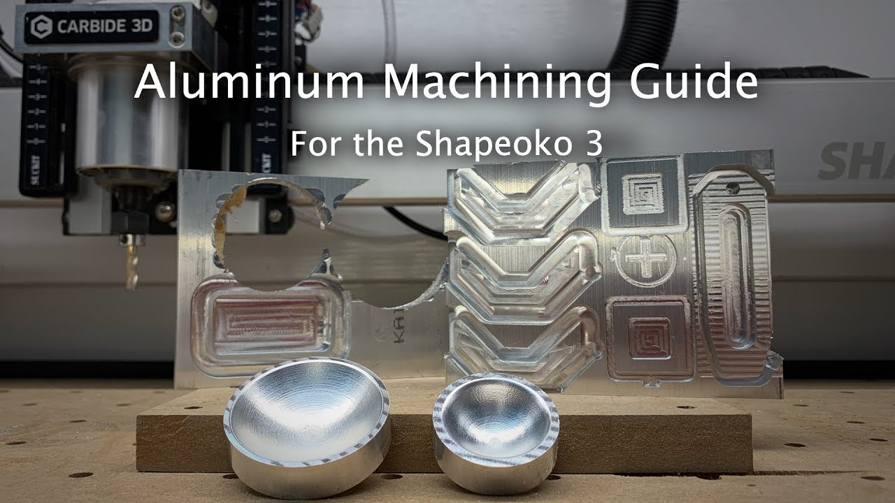 Aluminum Feeds and Speeds for the Shapeoko - #MaterialMonday