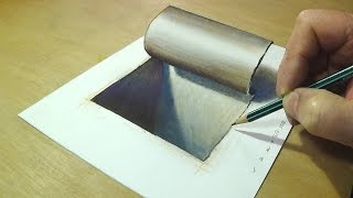Simple and Easy 3D Drawing  - Drawing 3D Hole - How to Draw Hole