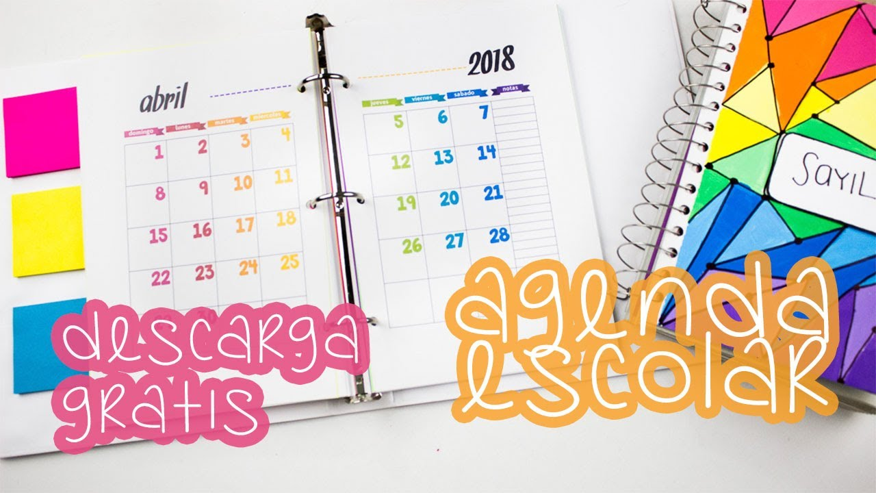 Agenda escolar diy descargala gratis tips para decorarla regresoaclases bigcrafts youtube - Como hacer una agenda escolar ...