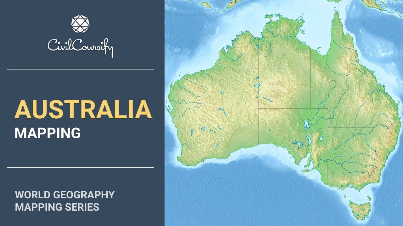 Australia Map In World.Australia World Geography Mapping