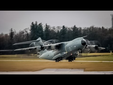 Royal Air Force Airbus A400M Atlas C.1 ZM403 || Takeoff at Salzburg Airport (Full HD)