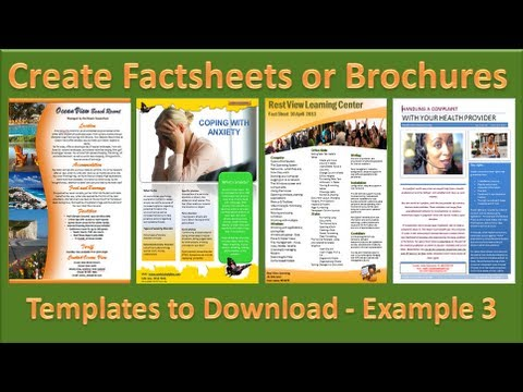 Make Brochure - How to Make Brochures in Microsoft PowerPoint 2010