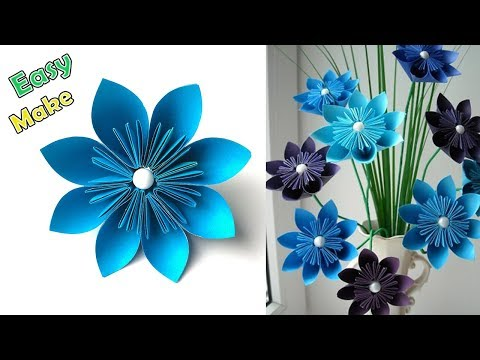 How to Make Easy and Simple Paper Flower | Home Decor | Easy Paper Flowers | DIY Paper Crafts
