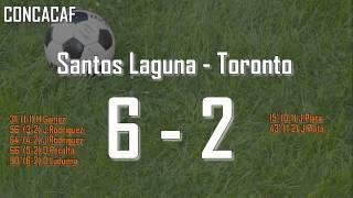 Santos - Toronto 6-2  - CONCACAF - Highlights and Goal not present