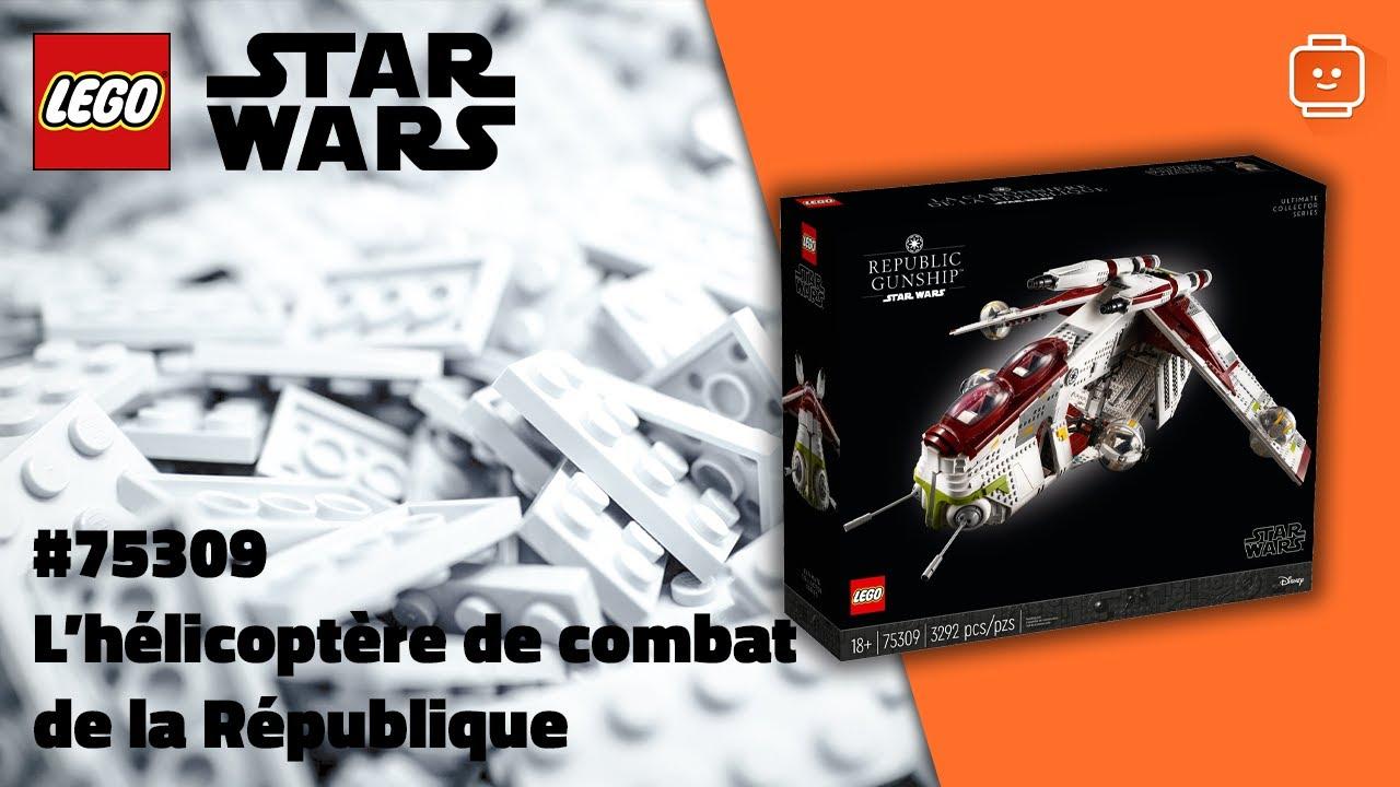 LEGO Star Wars 75309 L'hélicoptère de combat de la République