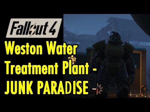 Weston Water Treatment Plant JUNK PARADISE | Fallout 4 | xBeau Gaming