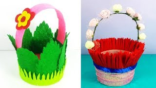 DIY Basket - 2 New Handmade gift Basket From Waste Plastic Bottle & felt Sheet - Chocolate Basket