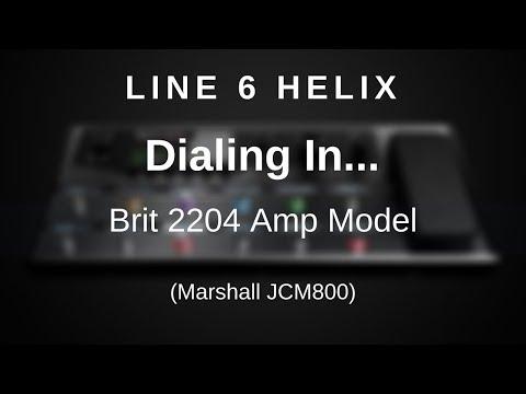 Line 6 Helix - Dialing In Brit 2204 Amp Model (Marshall JCM800)