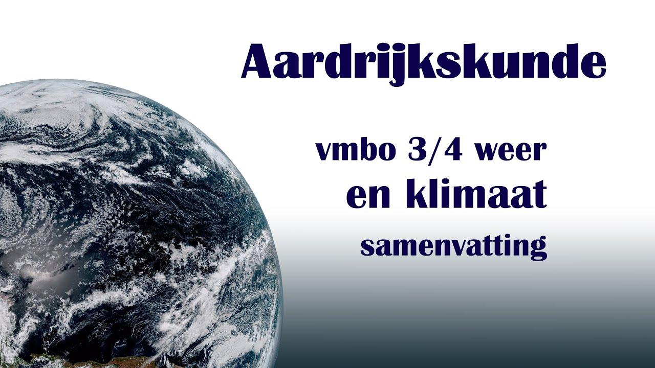 examen vmbot aardrijkskunde weer en klimaat YouTube