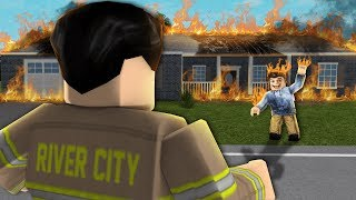 This ROBLOX firefighter did NOT see this coming...
