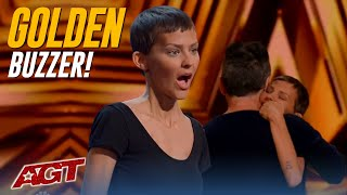 "Nightbirde: Girl Fighting Cancer Sings EMOTIONAL Original ""It's Ok"", Gets Simon's GOLDEN BUZZER!"