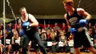 Matt Grant fights Luke - Outback Fight Club  -  Birdsville 2015