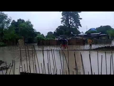 Narkatiaganj west champaran effected with  flood in 2017