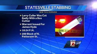 Statesville Police Searches for Man Involved with Box Cutter Slashing