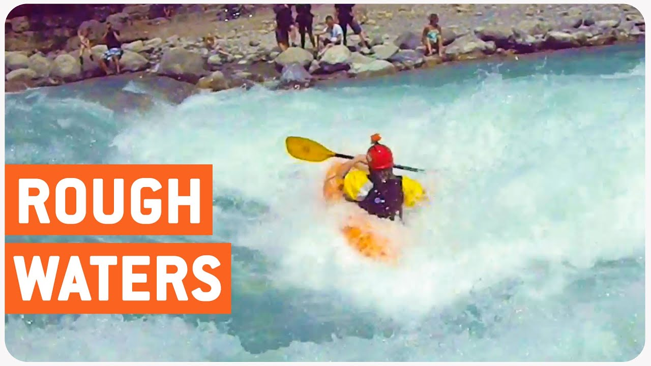 Kayaker Stuck In River Rapid | Flippin' Out