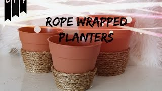 DIY ROPE WRAPPED PLANTERS, Arts & Crafts