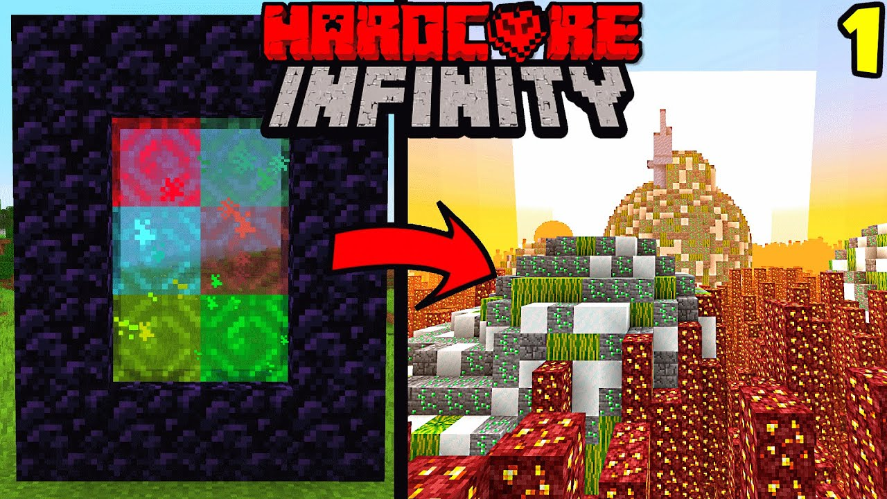 Hardcore Minecraft, But There's Infinite Dimensions | Episode 1