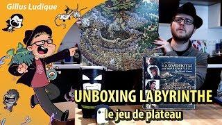 UNPACKING LABYRINTHE, le jeu de plateau