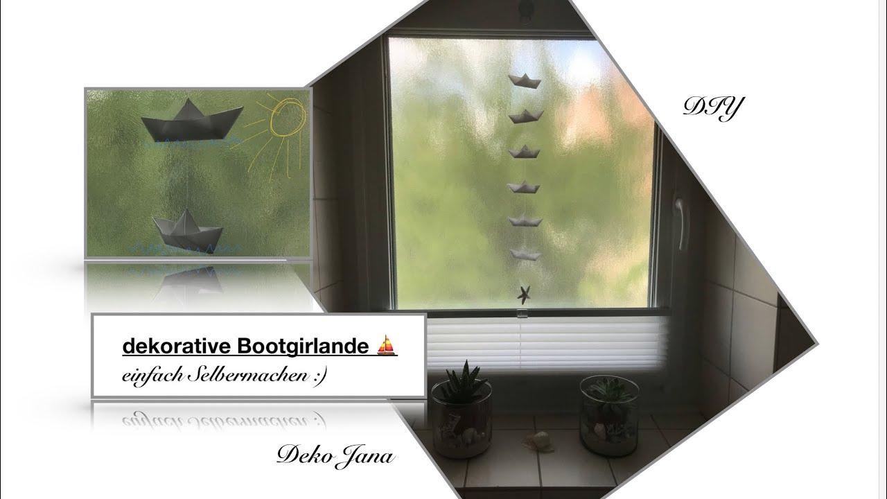 DIY:  Sommerdeko #10, maritime Bötchengirlande Selbermachen⛵️😊Bastelstunde, (How to) / Deo Jana
