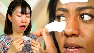 Women Try Biore Strips For The First Time