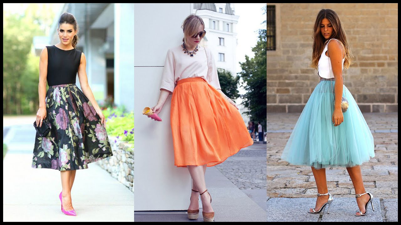 How to Look Classy with Midi Skirts Outfits - YouTube