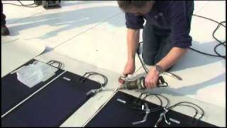 PV panelen monteren op een platdak