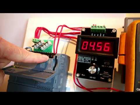 4 to 20 mA & 0 to 10 V PLC Analog Simulation Signal Generator