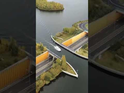 Aquaduct Veluwemeer, Amsterdam Netherlands