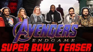 Avengers Endgame - Official Super Bowl Trailer - Normies Group Reaction