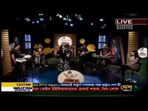 ASIF N NODI SONG BY NONGOR @ DESH TV LIVE