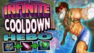 Smite: Infinite Cooldown Hebo Build - Conquest Season 4 (PTS) - I CAN SPAM ABILITIES FOREVER!