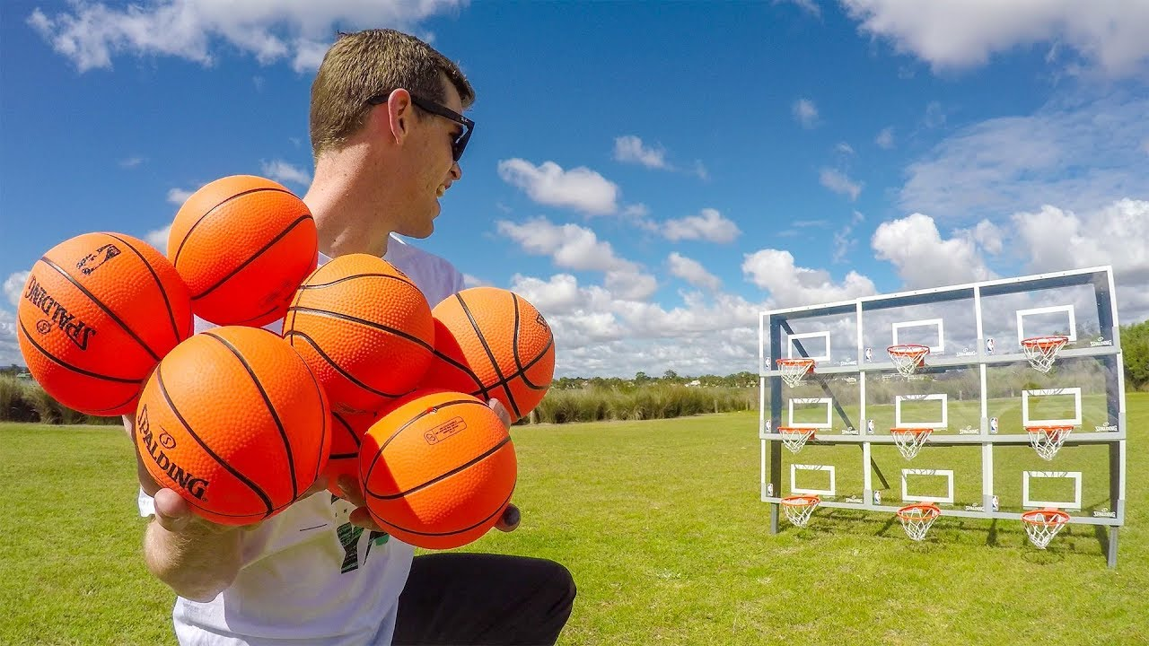EPIC MINI BASKETBALL TRICK SHOTS!