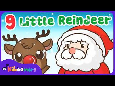 9 Little Reindeer | Santa's Reindeer | Kids Christmas Songs | The Kiboomers