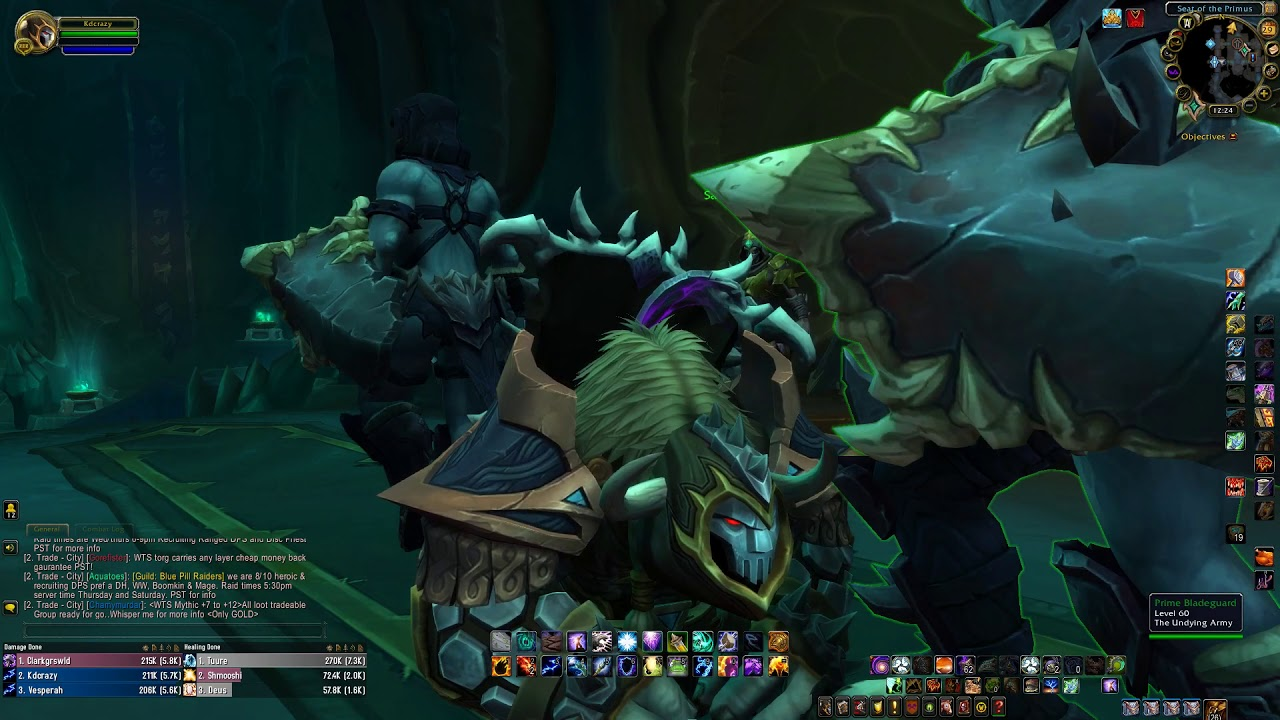 7 1 5 Havoc Demon Hunter Best Dps Build For Nighthold Youtube