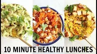 3 EASY 10 MINUTE LUNCHES | vegetarian + gluten free | collab with Simply Quinoa
