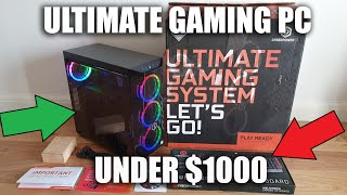 Gaming Pc From Cyberpowerpc For Under $1000 Unboxing And Setup!