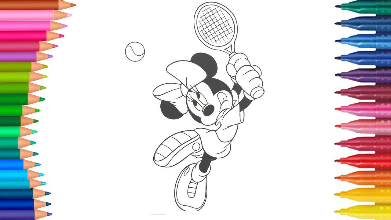 Dibujar Y Colorea Minnie Mouse Dibujos Para Niños Aprender Colores