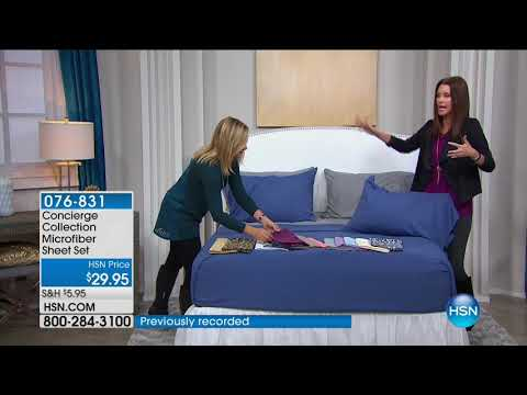 HSN | Concierge Collection Bedding 09.10.2017 - 02 PM