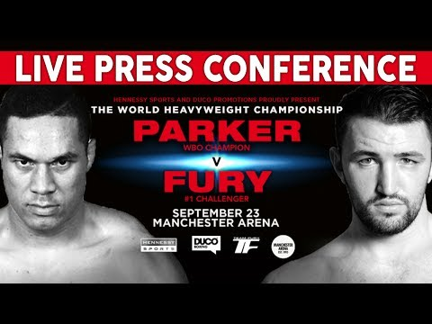 Joseph Parker vs Hughie Fury LIVE PRESS CONFERENCE | Hennessy Sports & Duco Promotions