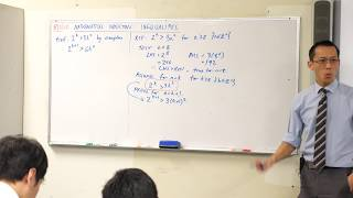 Mathematical Induction - Inequalities (4 of 4: Manipulating the inductive hypothesis)